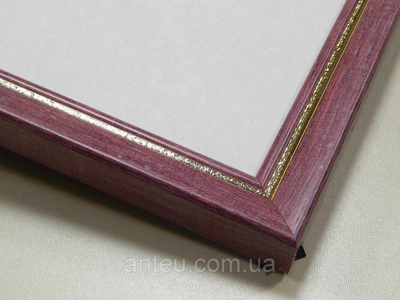 Рамка А3 (297х420).Бордо с золотом.22 мм.