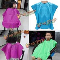 Детские детей водонепроницаемый волос салон резки Парикмахерская мыса платье фартук