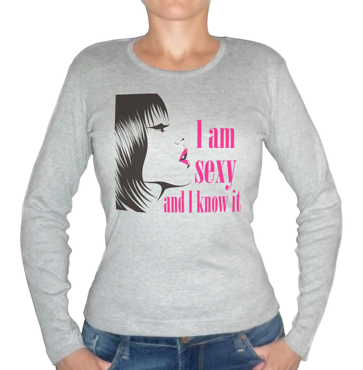 "Женская футболка ""I am sexy and i know it"""