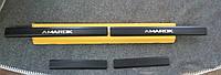 Накладки на пороги Volkswagen Amarok 2010- 4шт. Карбон