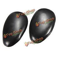 1 пара черного пластика краски для волос уха крышка щит оттенок клип