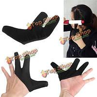 Термостойкая перчатка на три пальца черная