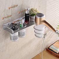 Ванная комната волосы хранения сушилка организатор стойки гребень держатель настенный стоять комплект