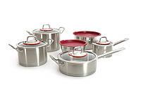 Набор посуды 12 пр. Hotel Line (красные вставки) BergHOFF 1112000, фото 1