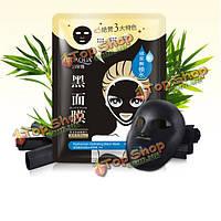 Хлопок черная маска влажная уход за кожей лица отбеливания кожи подъема снятия комедон