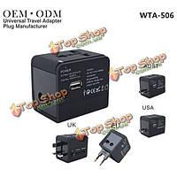 ВТА-506 многофункциональный универсальный во всем мире дорожное зарядное устройство конвертер штепсель