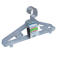 Вешалки-плечики пластиковые прозрачные для верхней одежды