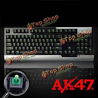 Ajazz ак47 Черри МХ зеленый 104keys механическая игровая клавиатура с подсветкой