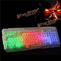 A9 проводной профессиональный игровой клавиатуры красочные LED Подсветка клавиатура с подсветкой