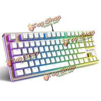 Rapoo V500 RGB подсветкой золото механические игровые клавиатуры 87 ключей черный синий коричневый переключатели