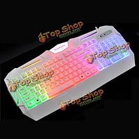 Блики х-s550 104 клавиши красочные LED с подсветкой проводной игровой клавиатуры клавиши не 19 опрокидывание