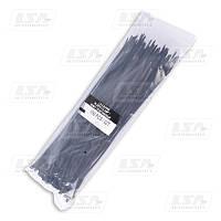 Хомут пластиковый 3.6х300 черный (стяжка) (пр-во LSA)