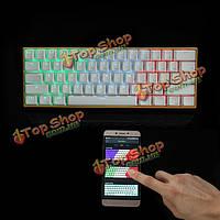 Синий / красный / коричневый переключатель RGB Беспроводная связь Bluetooth механический игровой клавиатуры PRO [Контроль приложение] Аннеы