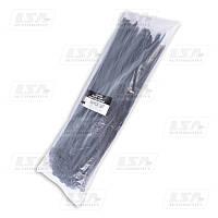 Хомут пластиковый 9х450 черный (стяжка) (пр-во LSA)