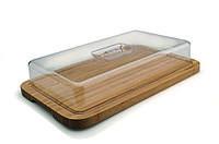 Доска прямоугольная с пластиковой крышкой, 39 х 24 см BergHOFF 1101811, фото 1