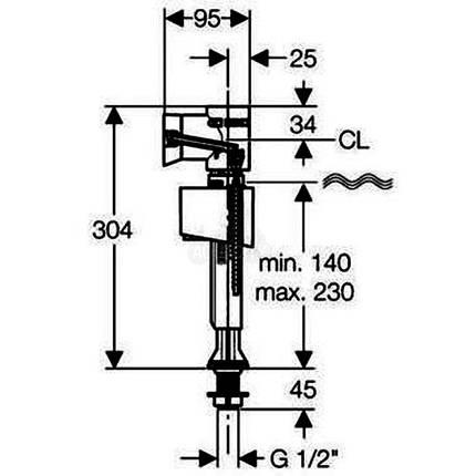 Впускной клапан 1/2 GEBERIT ImpulsBasic340 (136.726.00.1), фото 2