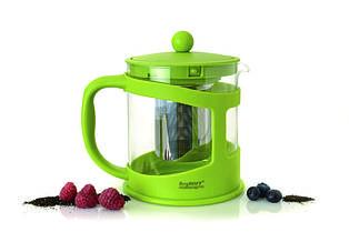 Чайник заварочный для чая, стеклянный, в подставке лайм, 1 л BergHOFF 1106842