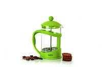 Френч-пресс для кофе/чая, стеклянный, в подставке лайм, 0,8 л BergHOFF 1106843