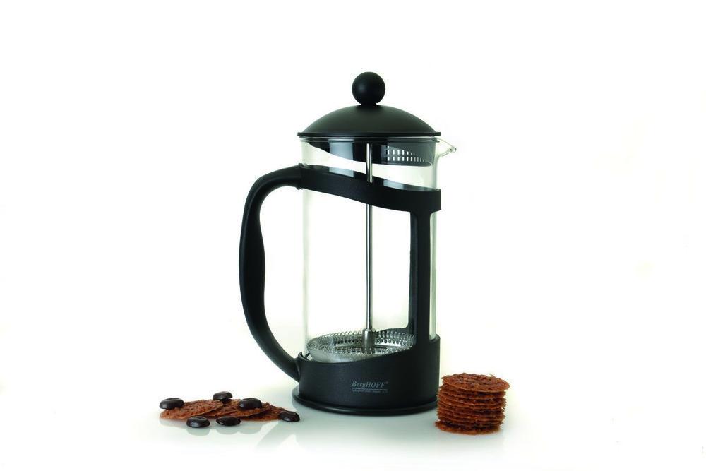 Френч-пресс для кофе/чая, стеклянный, в черной подставке, 1 л BergHOFF 1106835