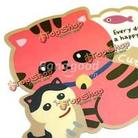 Милый котенок красавицы стиля животных нескользящая циновка коврика для мыши антипромаха
