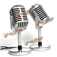 Микрофон в стиле ретро винтажный