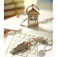 Bestrunner 4Гб Mini металл серебро дом дизайн USB 2.0 флэш-накопитель U диска