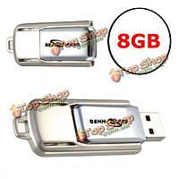 Bestrunner 8Гб вертят память ручки хранения большого пальца флеш-карты металла USB 2.0 u диск