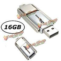 Bestrunner 16Гб вертят память ручки хранения большого пальца флеш-карты металла USB 2.0 u диск