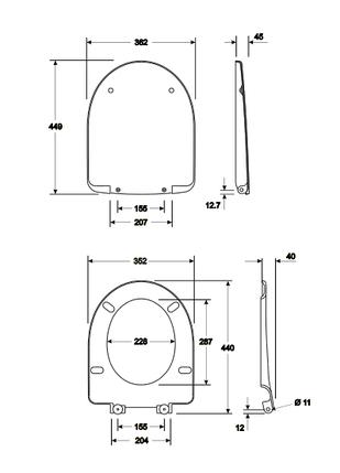 Сиденье с крышкой твердое, из материала Duroplast Soft Close KOLO NOVA PRO (M30112000), фото 2
