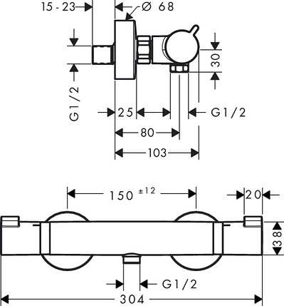 Термостат для душа HANSGROHE Ecostat Comfort (13116000), фото 2