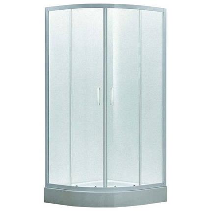 Душевая кабина 80*80*200 см, на мелком поддоне, профиль белый, стекло EGER TISZA Zuzmara (599-020), фото 2