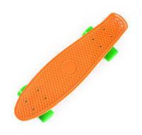 Оранжевый Скейт Пенни Борд зеленые колеса