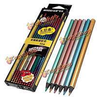 6 цветов марко мелкий нетоксичного металлический блеск художника зарисовок рисования карандашами