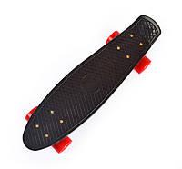 Черный Скейт Пенни Борд красные колеса