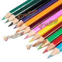 12 цветов деревянные цветные карандаши для тайных сада раскраски рисование картины