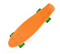 Оранжевый Скейт Пенни Борд зеленые светящиеся колеса