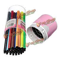 24 цветов акварель Ручки стирать маркер живопись графика художественные принадлежности