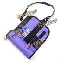 36 лунок фиолетовый холст карандаш мешок хранения пера мешочек косметический держатель рулона до кейс