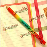 4в1  радуги цветной карандаш деревянный сделал художник рисунок письма эскизов