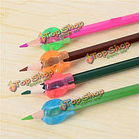 8шт дети ультра карандаш ручки управления почерка помощи правой левой рукой мягкая ручка