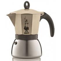 Гейзерная индукционная кофеварка Bialetti Moka express на 3 чашки (светлое золото)