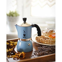 Гейзерная кофеварка Bialetti Fiammetta на 3 чашки (светло-голубой)