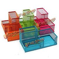 Металлическая сетка косметический макияж кисть офисный настольный ящик для хранения