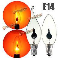Серия красный e14 3w ретро люстра огонь свечи пламя Edison шарика AC220V