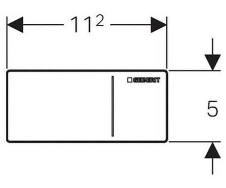 Смывная клавиша,  дистанционный скрытый смыв GEBERIT Sigma 70 (115.630.SJ.1), фото 2