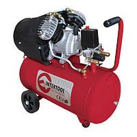 Компрессор двухпоршневой с прямым приводом 2.23 кВт, ресивер 50 л, 354 л/мин, 8 Атм, 220 В Intertool