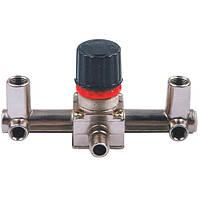 Контрольно-распределительный блок компрессора с регулятором давления Intertool