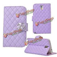 Камелии PU кожаный бумажник чехол для Samsung Galaxy Примечание 3 n9000