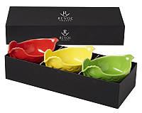 Подарочный н-р из трех блюд для птицы, красное, желтое, зеленое Revol 641994