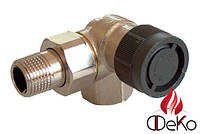 Термостатический вентиль Oventrop серии A угловой трехосевой Ду15 (правый)